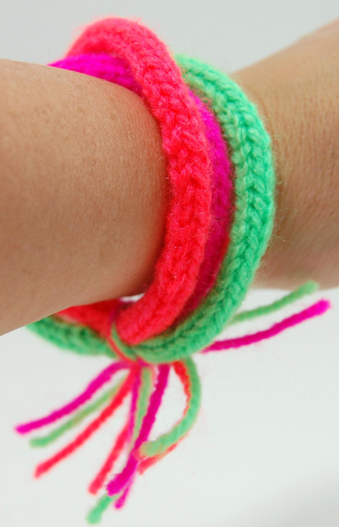 Spool knitted bracelet   LVLY