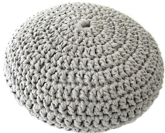 free crochet pouf pattern : LVLY