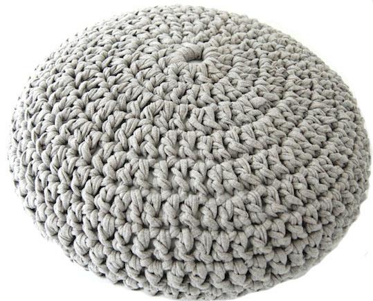 Crochet Pouf Pattern LVLY Custom T Shirt Yarn Pouf