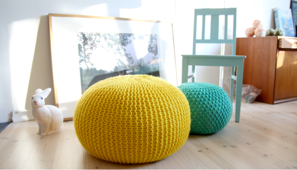 knitted pouf tutorial