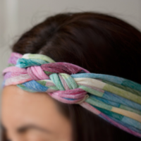 T-shirt yarn headband