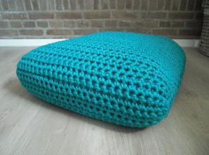 Crochet square floor cushion