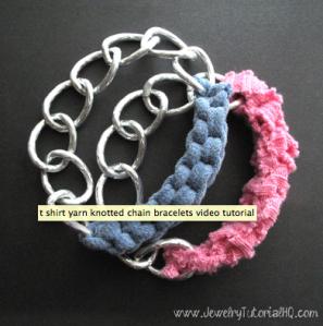 shirt yarn chain bracelet