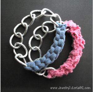 shirt yarn bracelets