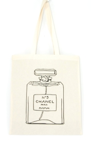 cotton tote bag chanel