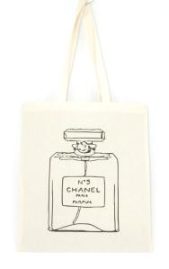 cotton tote bag chanel