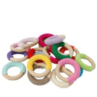 Crochet teether ring, free pattern