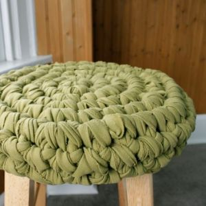 crochet stool cushion